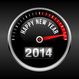 Happy New Year 2014 Dashboard Background