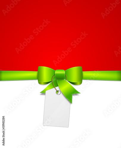 Schleife grün rot mit Schild