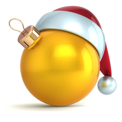 Christmas ball ornament New Year bauble decoration gold yellow