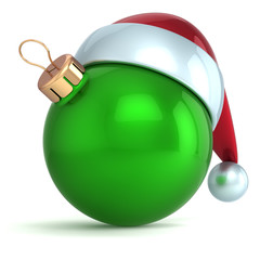 Christmas ball ornament New Year bauble decoration green Santa