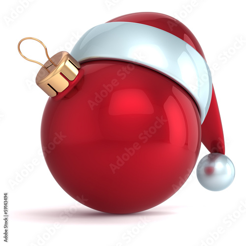 Christmas ball ornament New Year bauble decoration red Santa