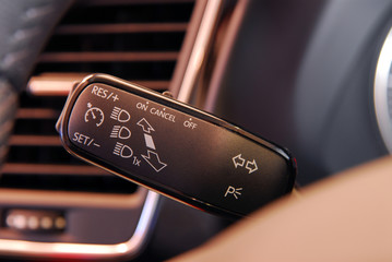 Cruise control button, and car lighting switch