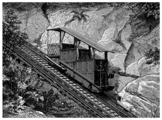 Mountain Train - Bergbahn 1 - 19th century