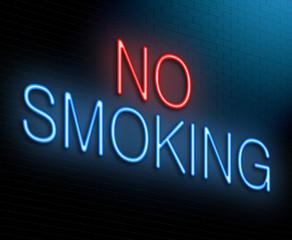 No smoking concept.