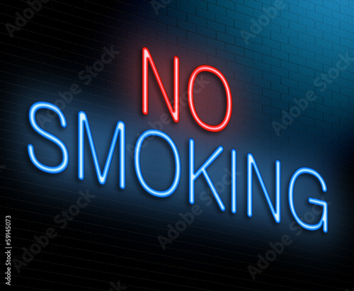 No smoking concept.