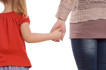 Hand in Hand - Mutter und Tochter