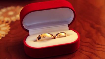 Rings in etui