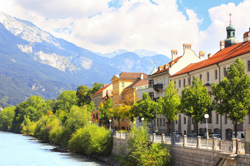 Embankment in Innsbruck, Austria