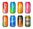 canvas print picture - Set of drink cans