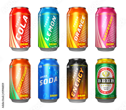 Set of drink cans - 59146859