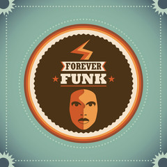 Retro funk poster.