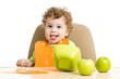 baby eating by himself