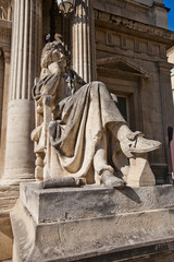 Moliere statue (XIX c.) in front of Opera Theatre in Avignon