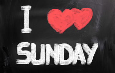 I Love Sunday Concept