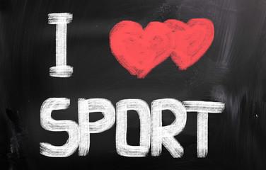 I Love Sport Concept