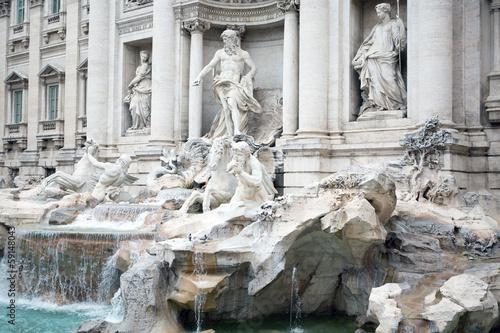 Leinwanddruck Bild Trevi Fountain