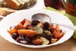 Zuppa di patate zucca e olive