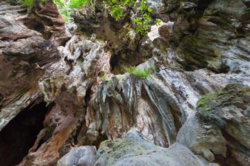 grottes et falaises calcaires de Phranang, Thaïlande