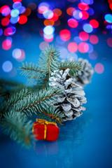 Christmas fir cones