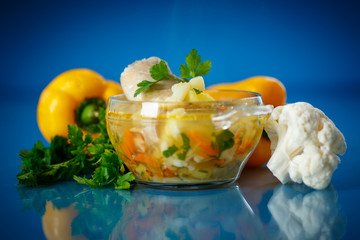 vegetable soup with cauliflower