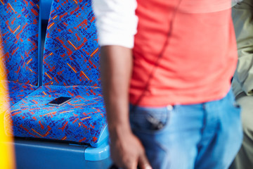 Passenger Leaving Mobile Phone On Seat Of Bus