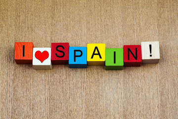 I Love Spain - sign series for countries & travel