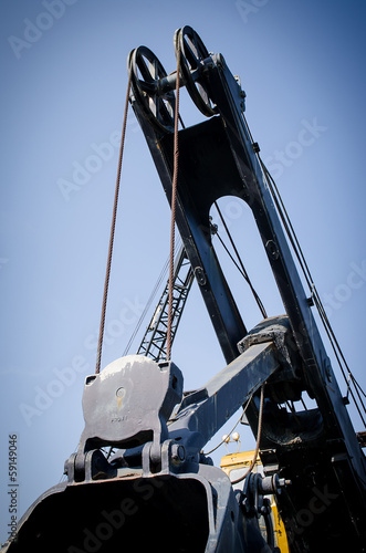 old wire rope shovel crane