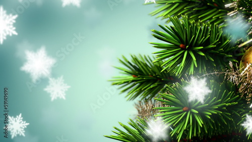 beautiful Christmas background, seamless loop