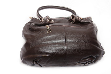 Natural Leather Handbag Isolated