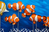 Group of anemone fish