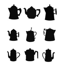 vintage non electric coffee pots silhouettes