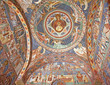 Voronet Church fresco inside, Romania
