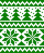 Seamless nordic pattern with stars and fir-trees
