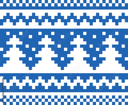 Seamless winter pattern (blue)