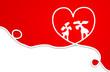 Karte Herz rot Elche