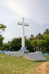 Memorial Shrine Adimalathura. Chowara Beach, Kerala, India