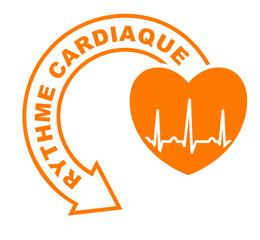 rythme cardiaque flèche orange