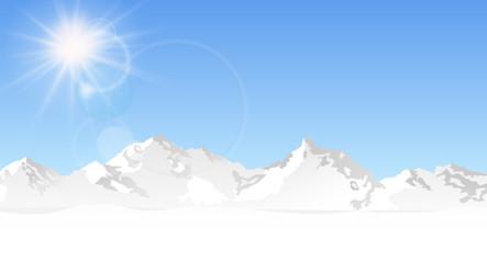 Berge Himmel Sonne