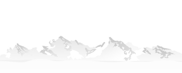 Berge weiß