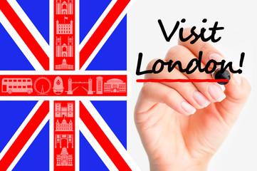 Visit London concept