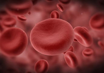 Red Blood Cells Flowing Through Vein