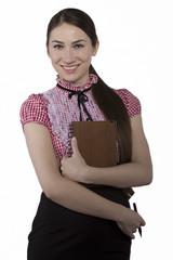 Beautiful  businesswoman smiling