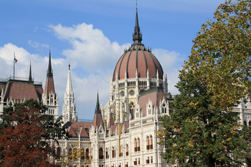 Hungarian Parliament building detail