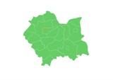 Fototapety Administracyjna mapa województwa