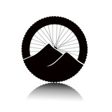 Badge of bicycle tourism