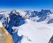 Beginning of Vallee Blanche as seen from Aiguille du Midi