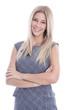 Portrait Frau blond isoliert - Geschäftsfrau oder Angestellte
