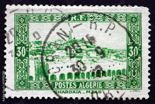 Postage stamp Algeria 1936 View of Ghardaia, City