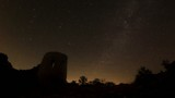Time lapse of stars behind Syuyrenskaya fortress VI-XI centuries