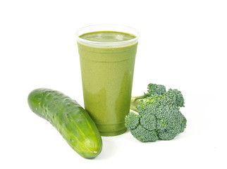 Healthy green vegetable smoothie